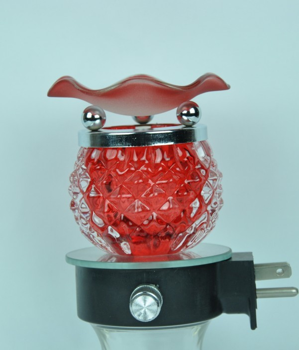 Aroma Oil Lamp (Red)